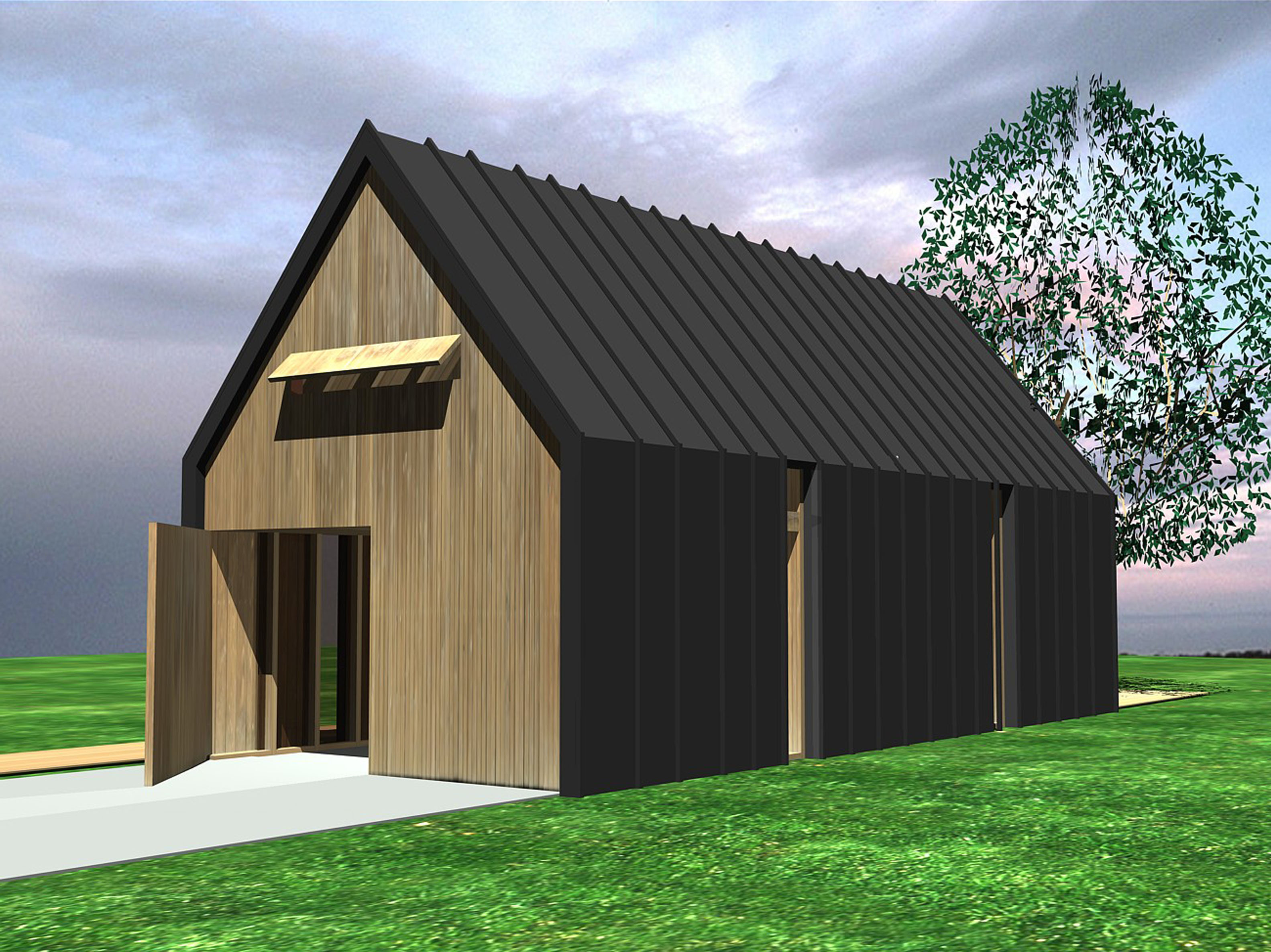 Nieuwbouw gastenverblijf tuinhuis bergen nh studio72studio72 - Ontwerp tuinhuis ...