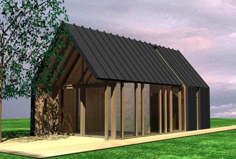 Ontwerp tuinhuis voorgevel komlaan bergen studio72studio72 - Ontwerp tuinhuis ...