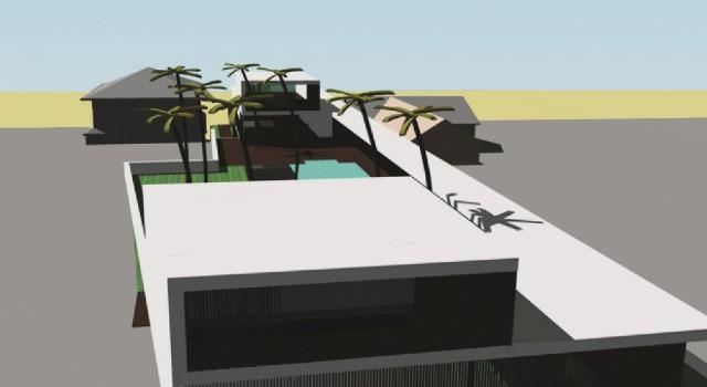 Ontwerp strand villa perth australie - achtergevel