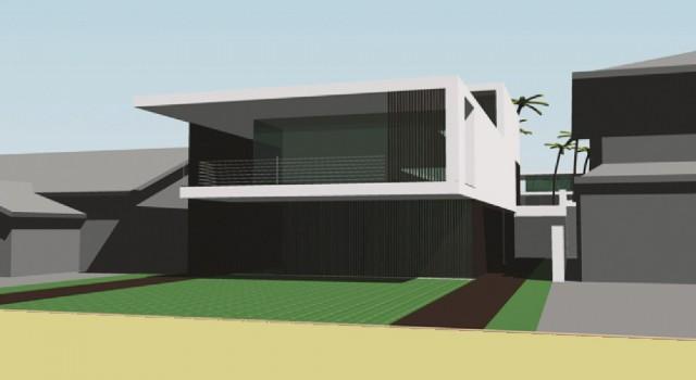 Ontwerp strand villa perth australie - voorgevel