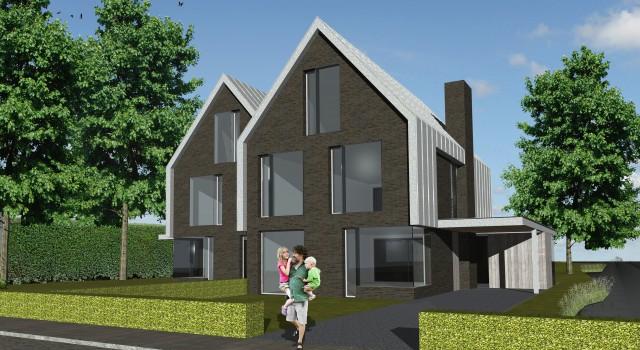 Ontwerp geschakelde villa, Aalsmeer