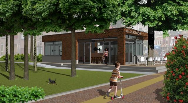 Nieuwbouw paviljoen Eethuis Bodrum, Alkmaar