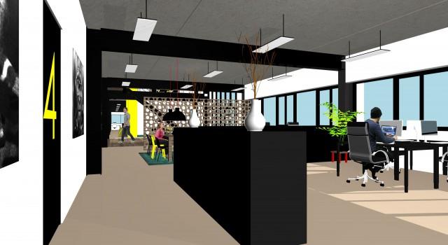 Herinrichting verbouwing kantoorgebouw, Alkmaar