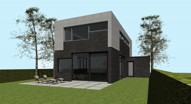 Nieuwbouw moderne vrijstaande woning, Alkmaar