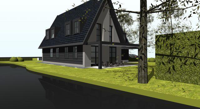 Vrijstaand, modern, woonhuis, woning, villa, amsterdam, aalsmeer, alkmaar, noord holland, ontwerp, architect,