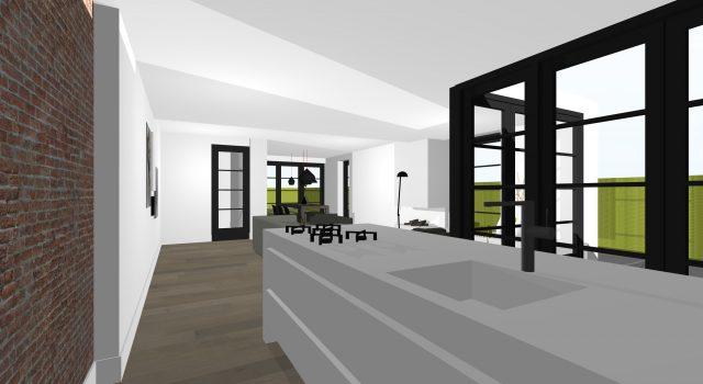 Vrijstaand, modern, woonhuis, woning, villa, bergen, alkmaar, noord holland, ontwerp, architect, architectuur, tekening, tekenwerk, interieur, exterieur, bouwaanvraag