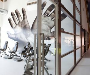 Fotografie voor AS Creation van sporthal Victorieplaza: Interieur sportcentrum Victorieplaza