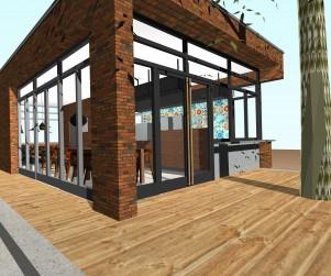 eethuis, luchroom, restaurant, terras, ontwerp alkmaar, modern, monument, bouwaanvraag, interieur, exterieur