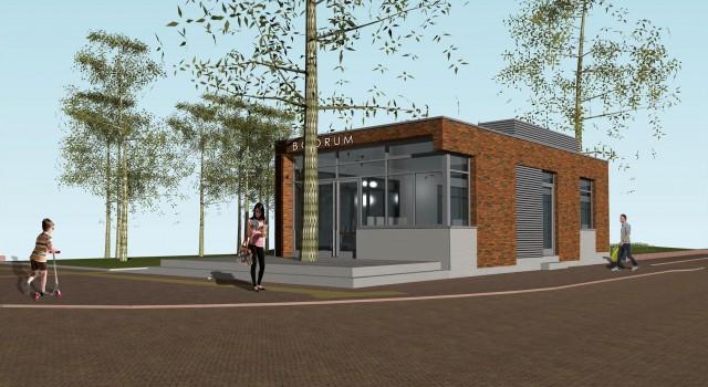 Nieuwbouw paviljoen Eethuis Bodrum, Alkmaar (Winnaar Puienprijs, Alkmaar 2017)