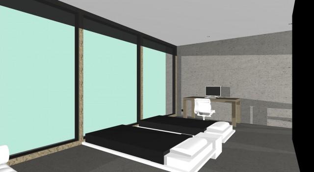 Minimalistisch interieur appartement, Amsterdam