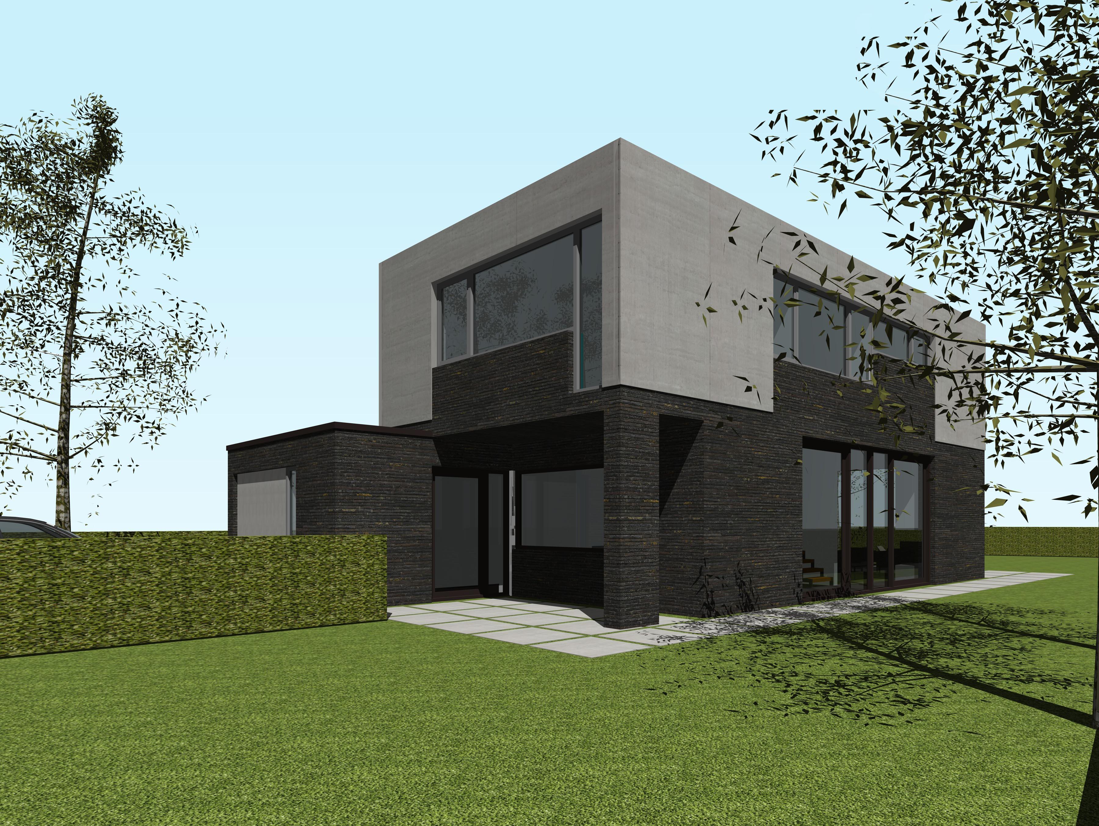 Nieuwbouw moderne vrijstaande woning alkmaar studio72 for Moderne vrijstaande woning