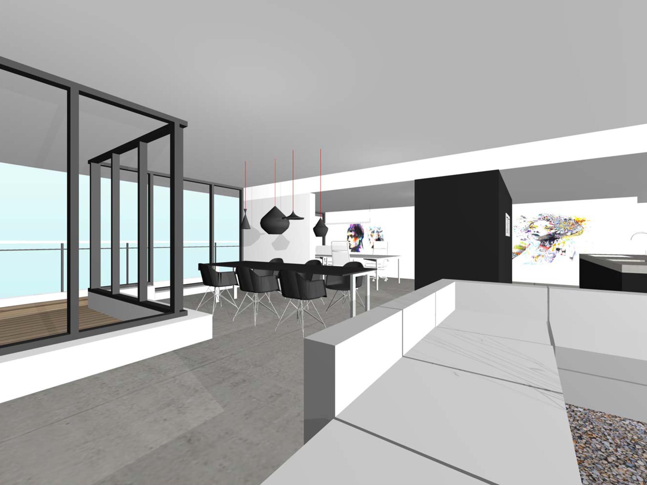 design interieur penthouse, ontwerp , architect, 3d, fraai, modern ...