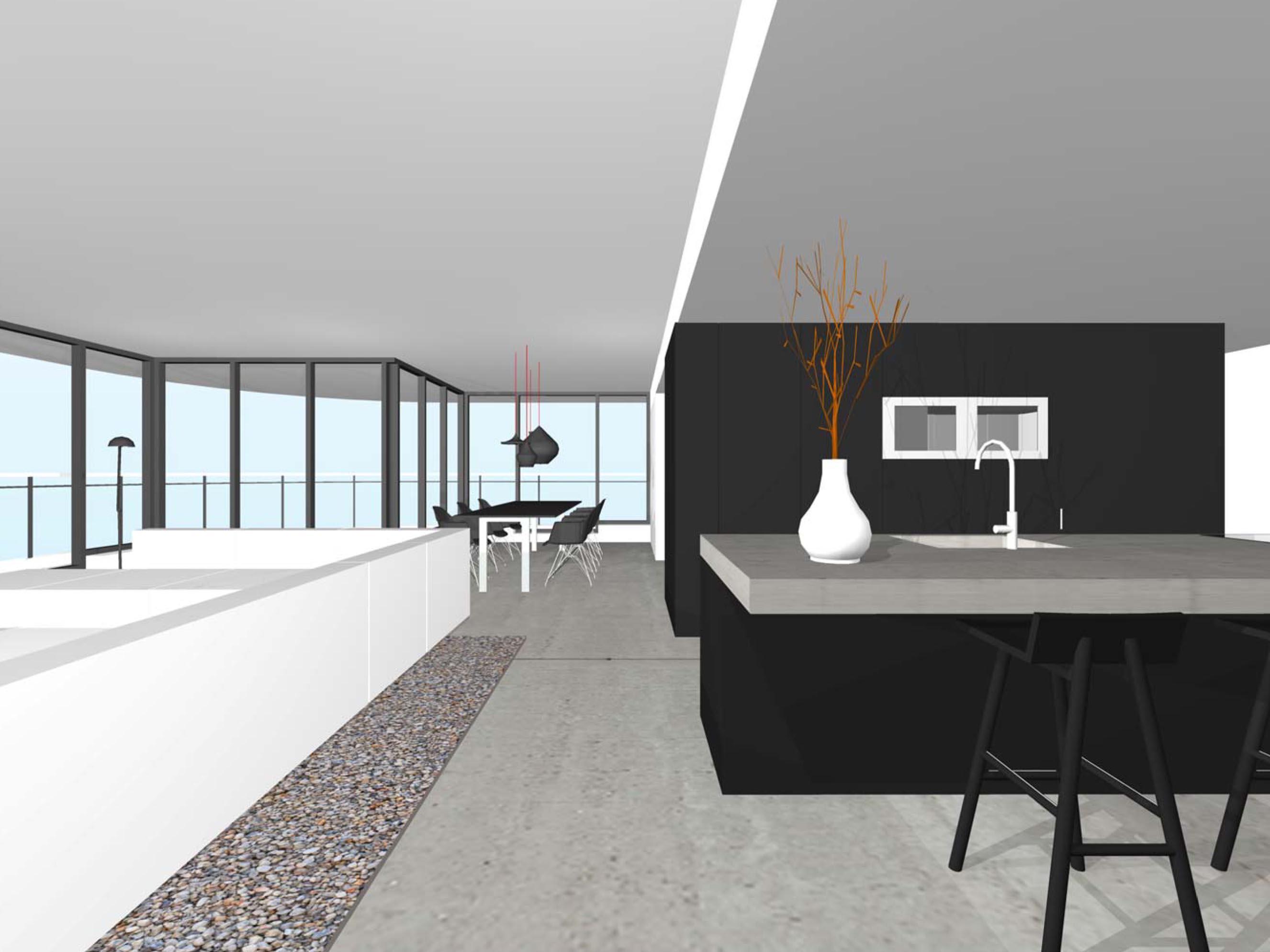 Design interieur penthouse ontwerp architect d fraai modern