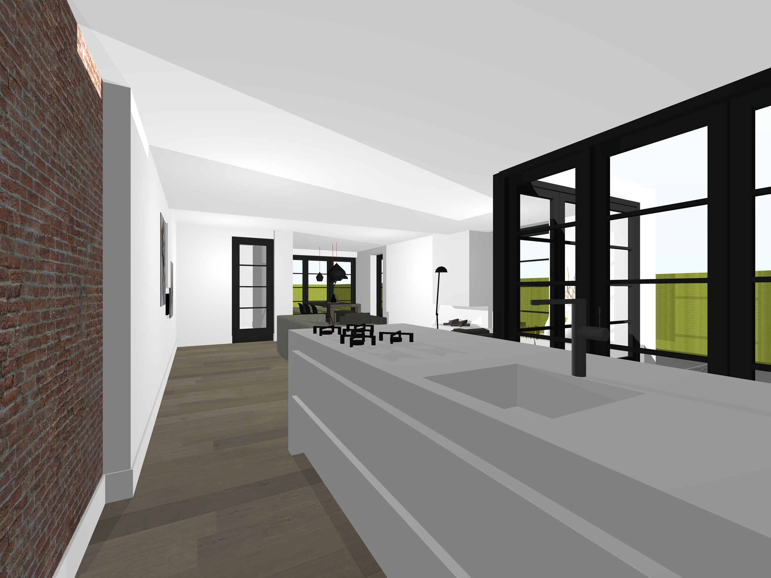 Interieur keuken woonkamer bergen studio