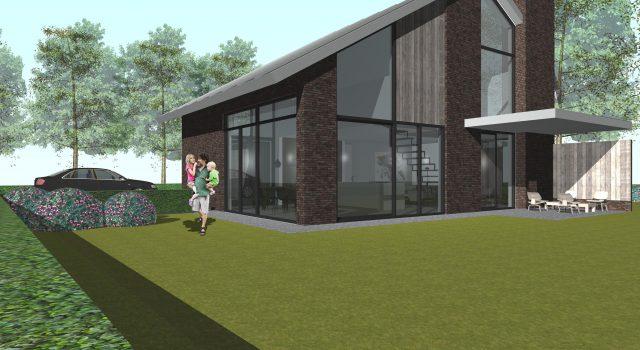 Nieuwbouw energie-neutrale vrijstaande woning, Bergen NH