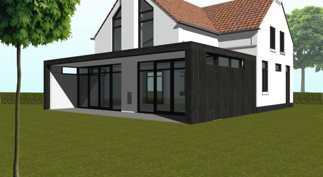 Uitbreiding een verbouwing woning, Schoorl
