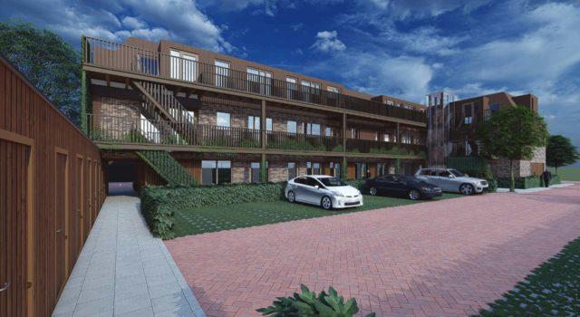 Verbouw bedrijfsgebouw naar 15 appartementen, Heiloo