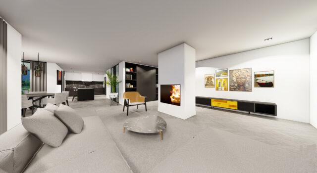 Verbouwing en uitbreiding villa, Bergen